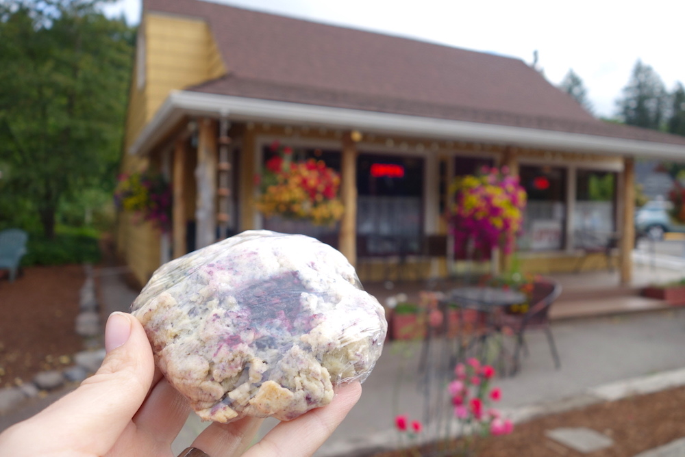Rosie's Mountain Coffeehouse scone pastry - Central Oregon Road Trip Stops