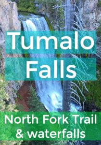 The Tumalo Falls hike in Central Oregon is full of beautiful waterfalls. There are several hiking options of different lengths, starting with the North Fork Trail. | Roam Redmond Oregon