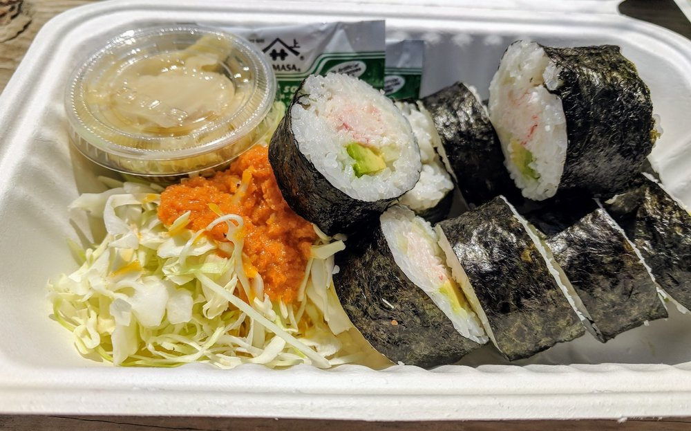 California rolls from Ronin Sushi