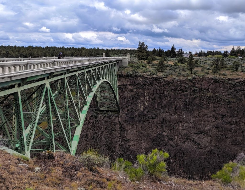 Pedestrian bridge - Peter Skene Ogden State Park: Historic Bridge Scenic Overlook in Central Oregon