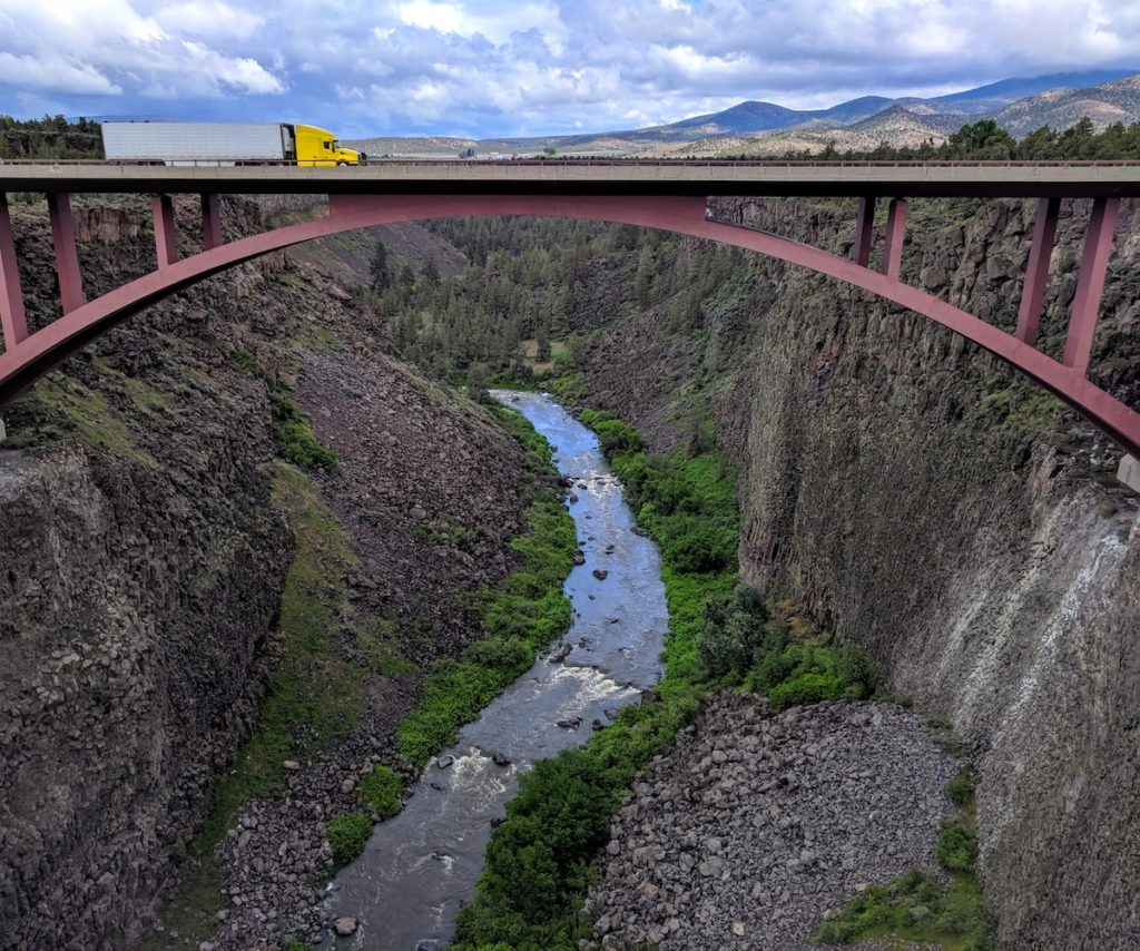 Highway 97 - Peter Skene Ogden State Park: Historic Bridge Scenic Overlook in Central Oregon