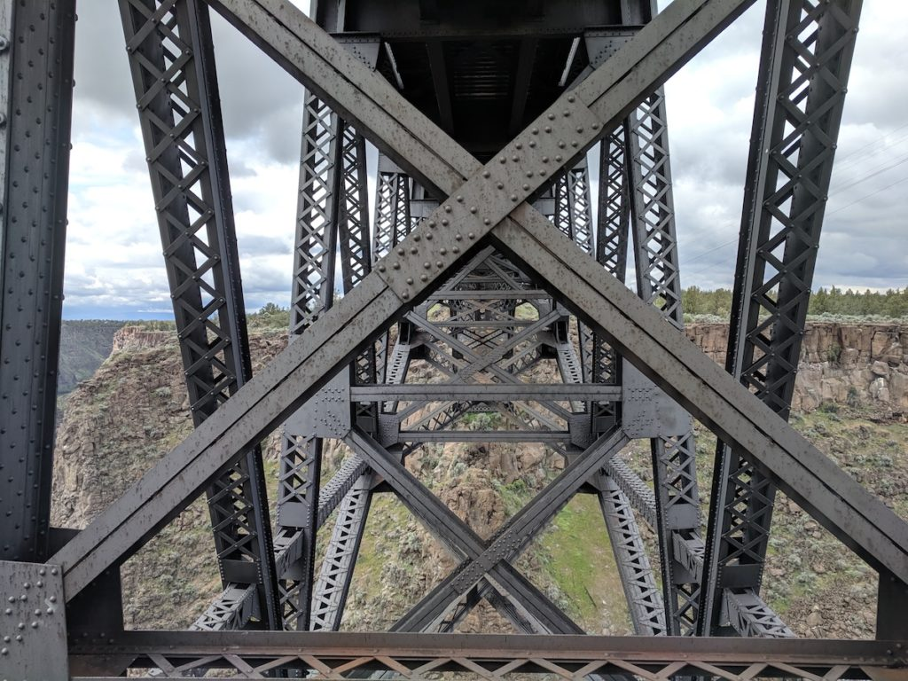 Railroad bridge - Peter Skene Ogden State Park: Historic Bridge Scenic Overlook in Central Oregon